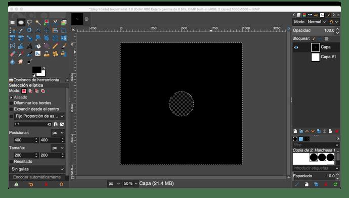 *degradado (exportada)-1.0 (Color RGB Entero gamma de 8 bits, GIMP built-in sRGB, 2 capas) 1000x1000 – GIMP 2020-07-07 22-18-34